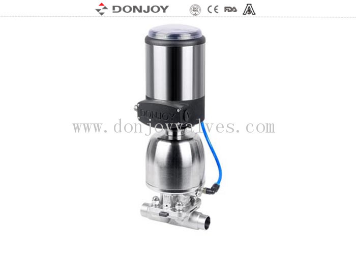 316L Sanitary Diaphragm Valve Regulating Valve with positioner , C-TOP 1'' - 4''