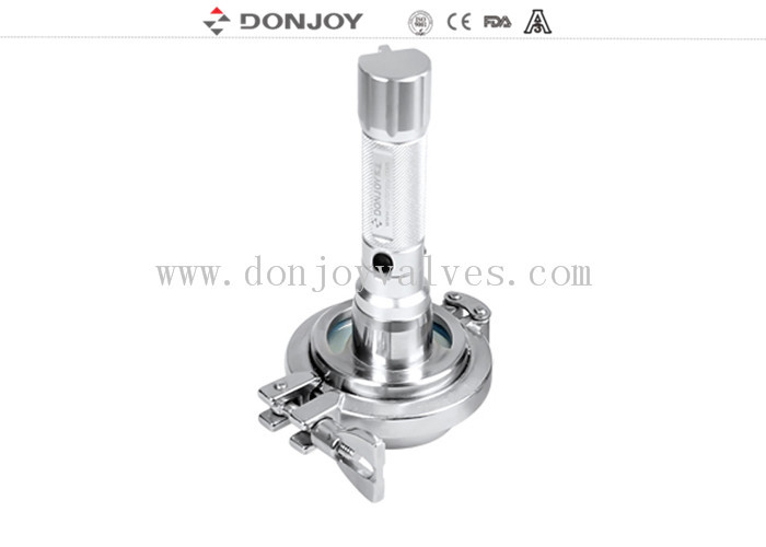 DN65 Stainless Steel Sight Glass with led light of charged model waterproof explosion proof