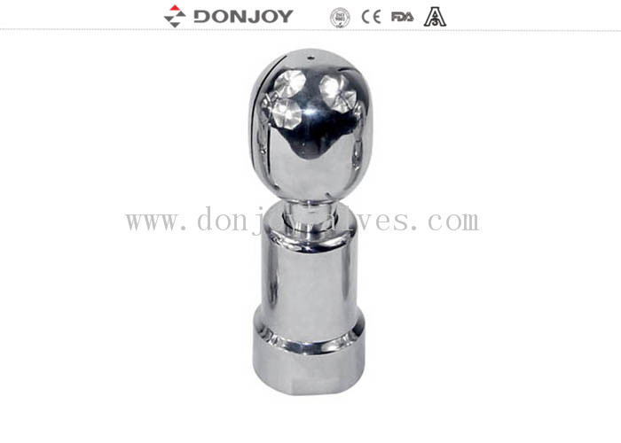 SUS304 Rotary Tank Spray Balls Thread Connection Elliptial / Round Ball
