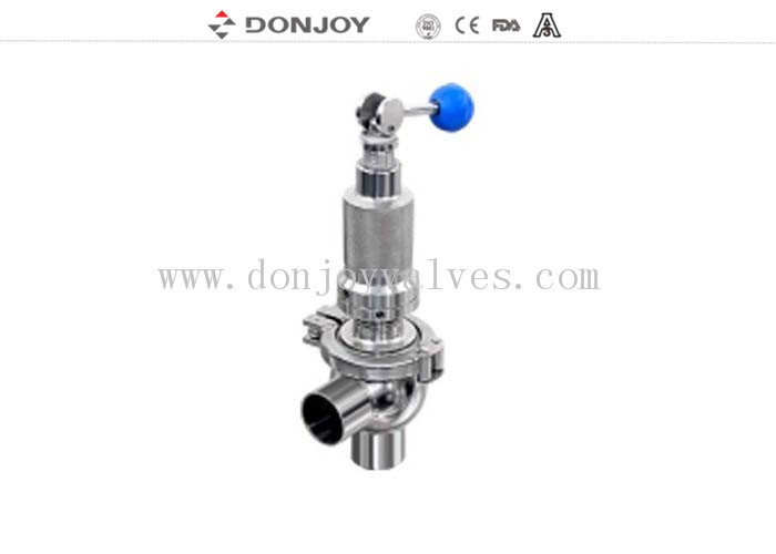 "1.5""  SS304 manual quickly Pressure Safety Valve , over flow valve Clamped"